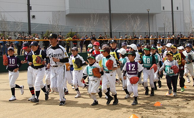 枚方で野球教室