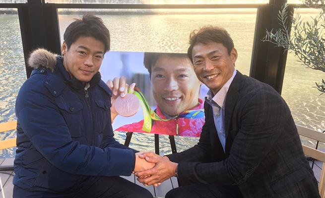 カヌー・リオ銅メダル羽根田選手を取材