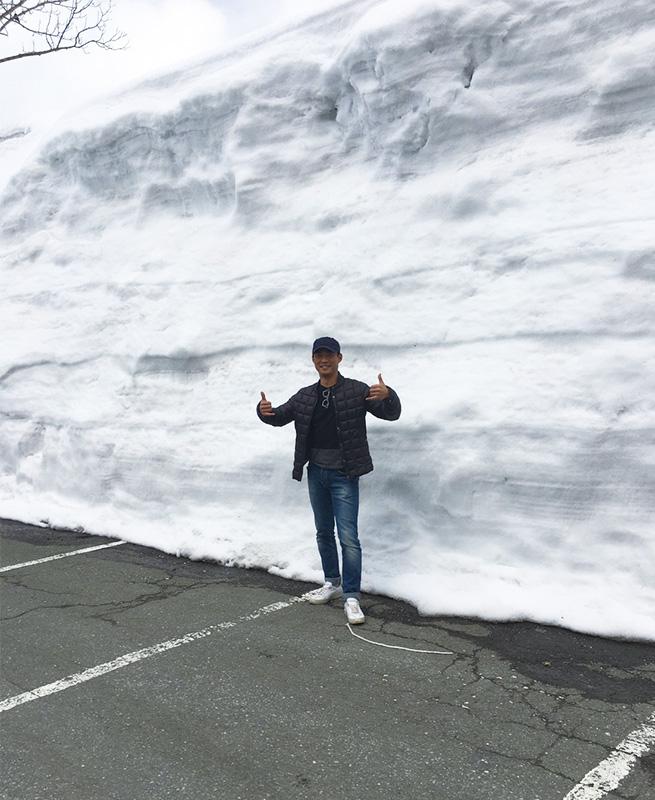 積雪は5メートル